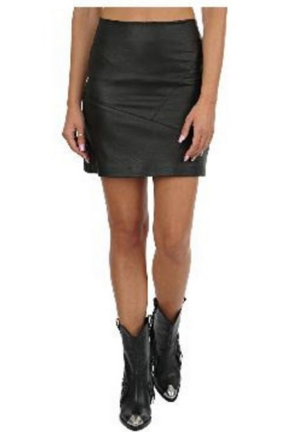 18.02.105 moutaki skirt eco leather spaceandcolor