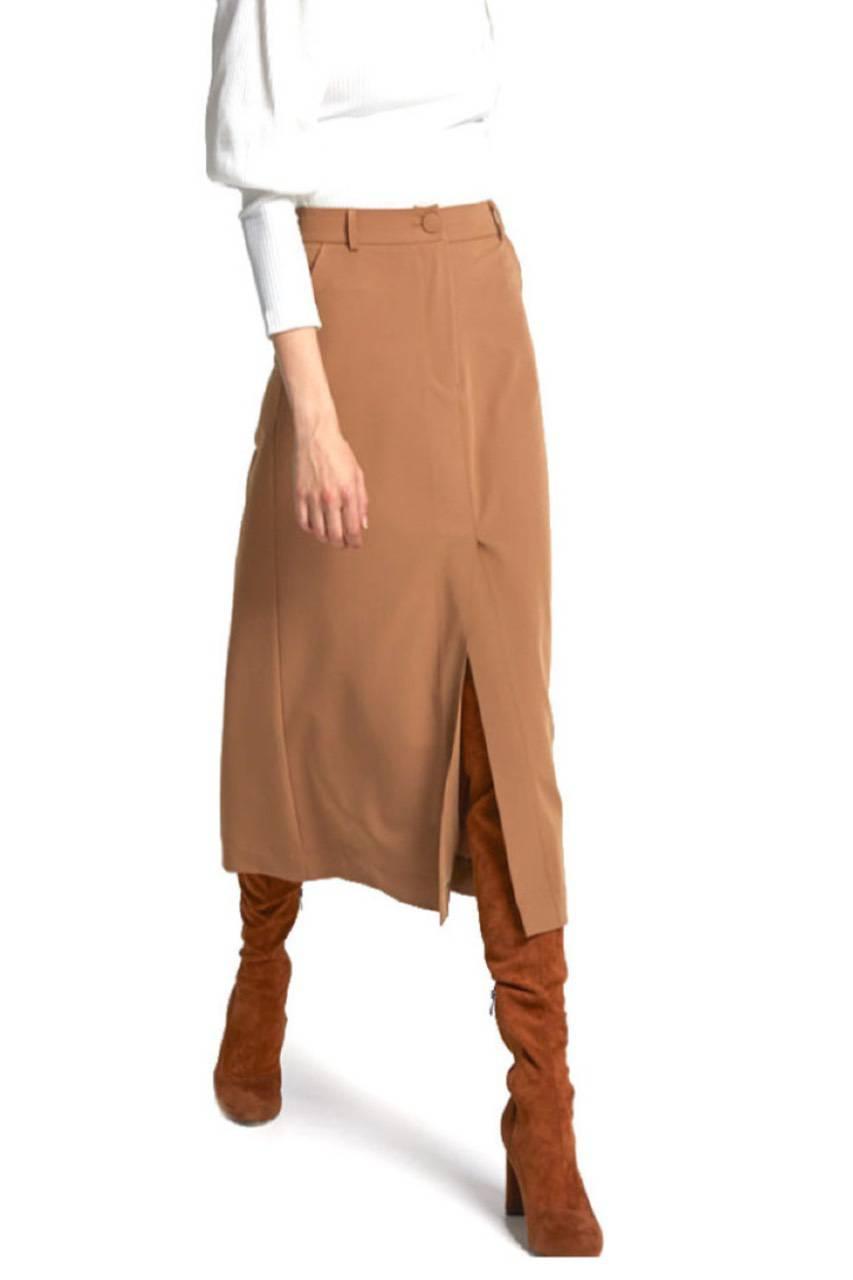 moutaki μίντι καμηλό φούστα