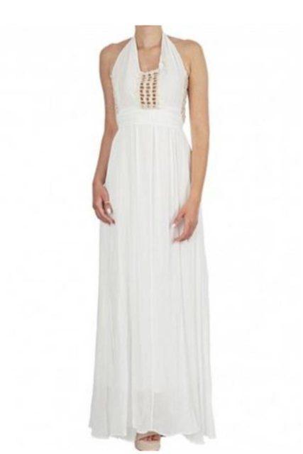 Moutaki μάξι λευκό εξώπλατο φόρεμαφόρεμα