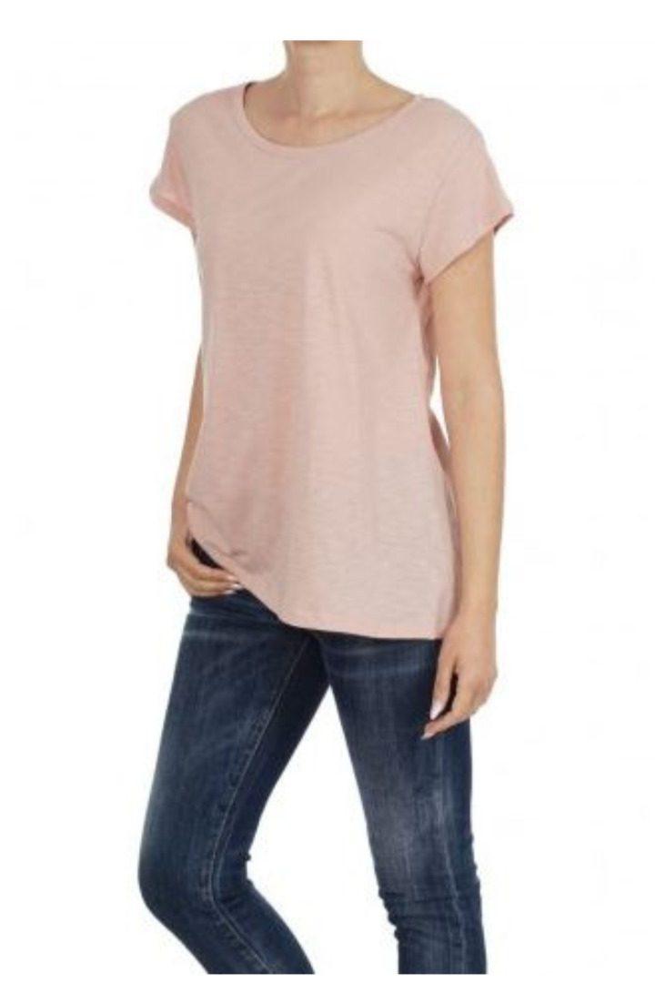 moutaki βαμβακερό t-shirt ροζ