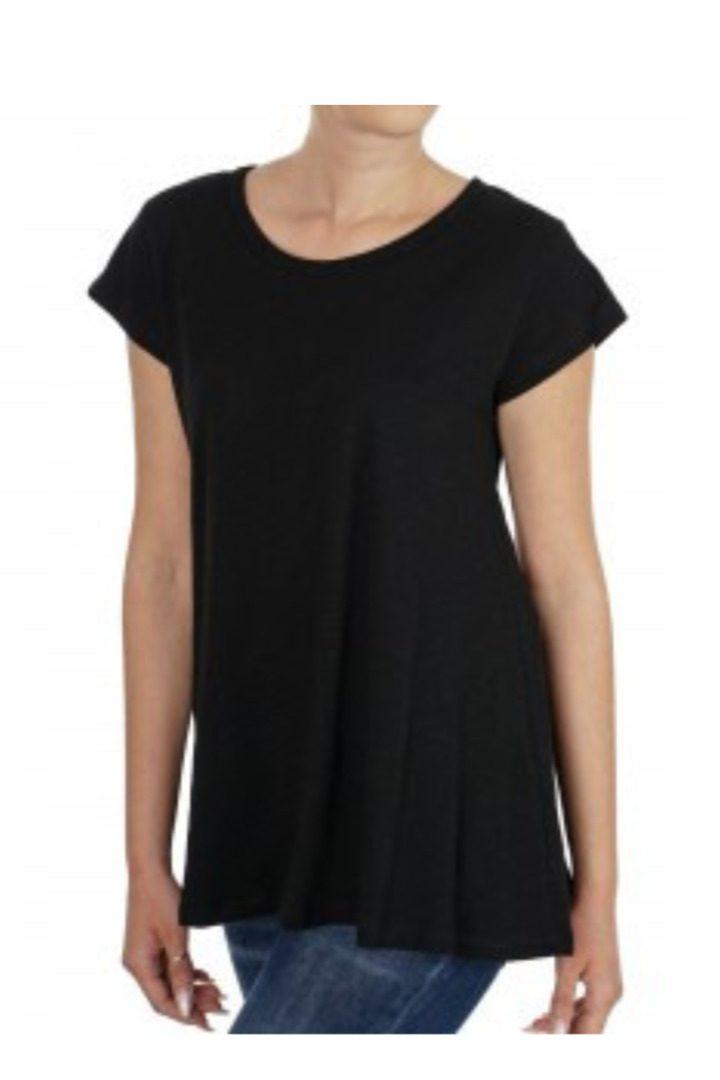 moutaki t-shirt βαμβακερό μαύρο