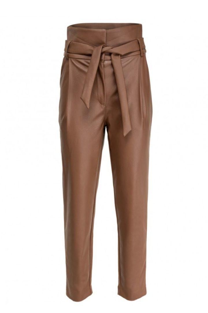 moutaki eco leather παντελόνι