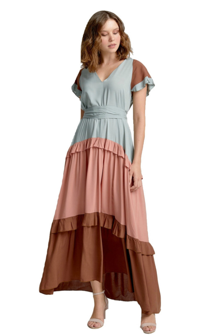moutaki maxi boho dress mint