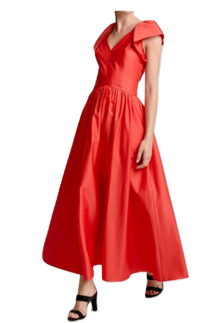 moutaki vintage red dress