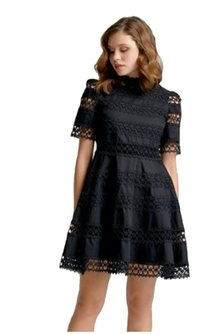 moutaki mini black dress