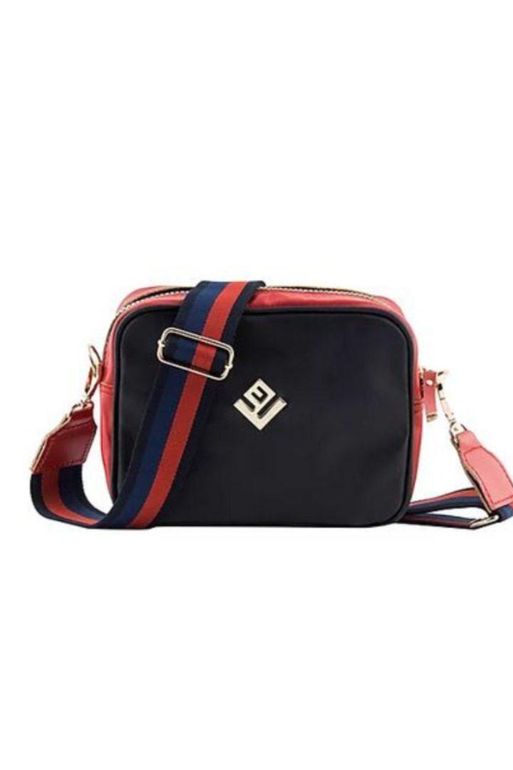 lovely handmade handbag black-red