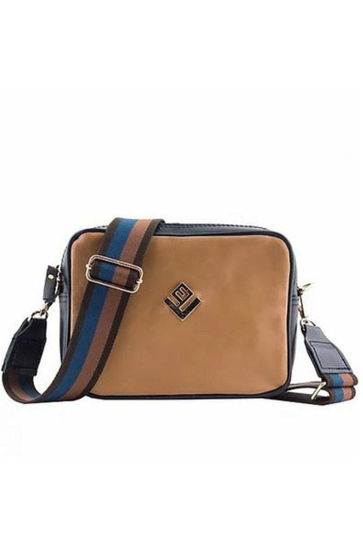 lovely handmade shoulderbag tabac
