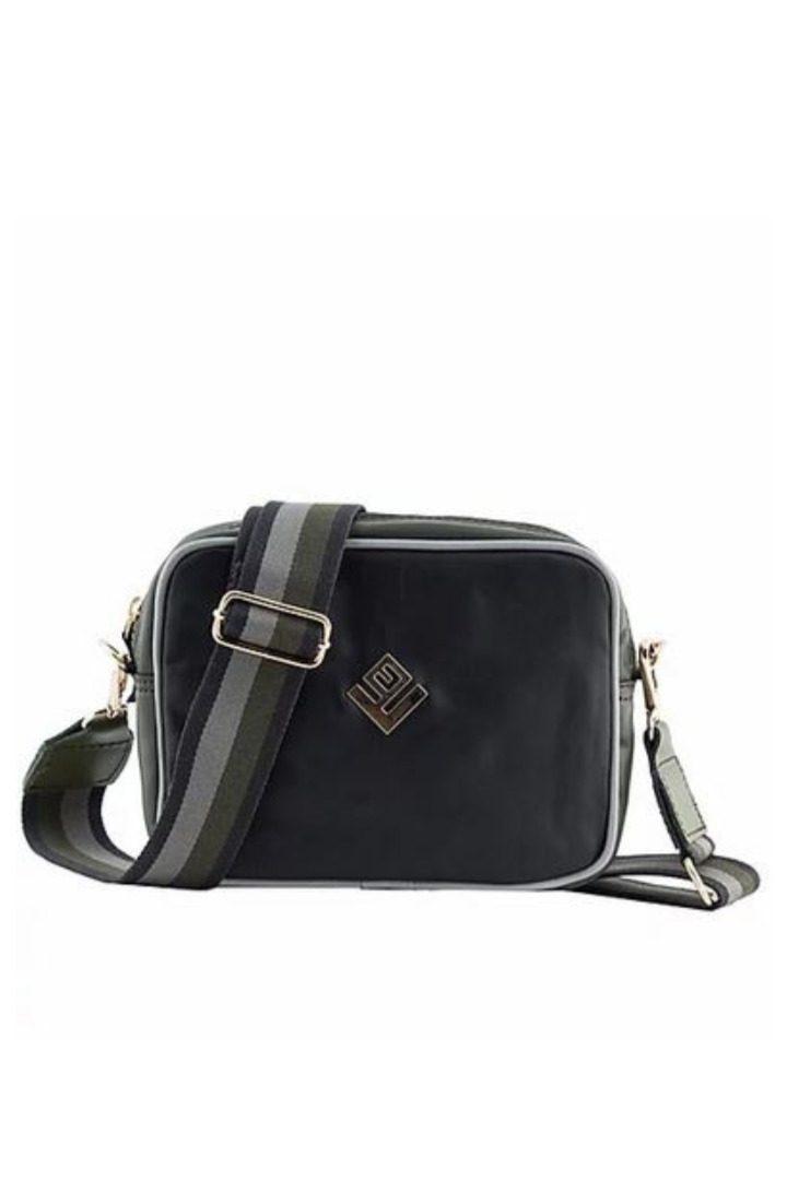 lovely handmade shoulder bag black-olive