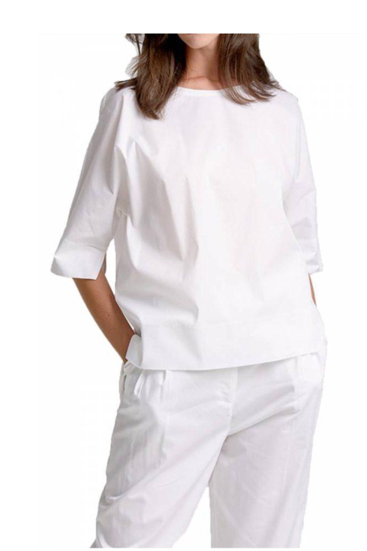 moutaki λευκό βαμβακερό πουκάμισο