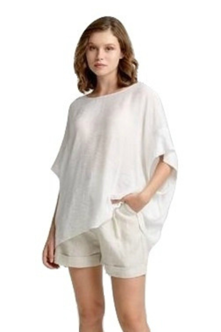Moutaki loose line tunic white