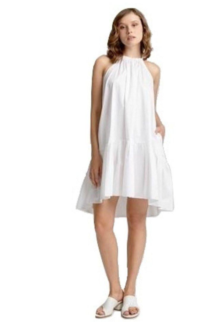 Moutaki boho mini φόρεμα λευκό