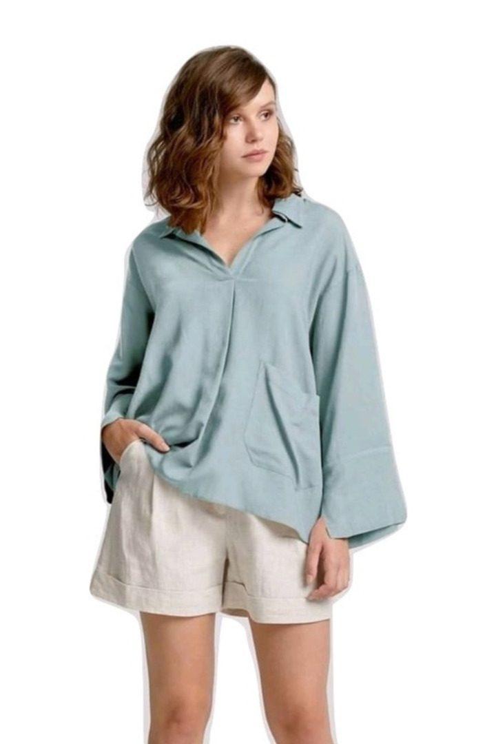 moutaki loose line summer tunic mint color
