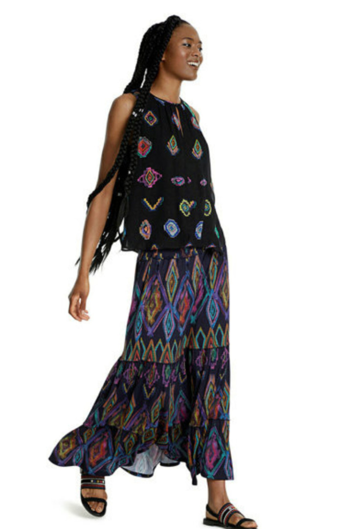 desigual μάξι φούστα με φλοράλ εκτύπωση