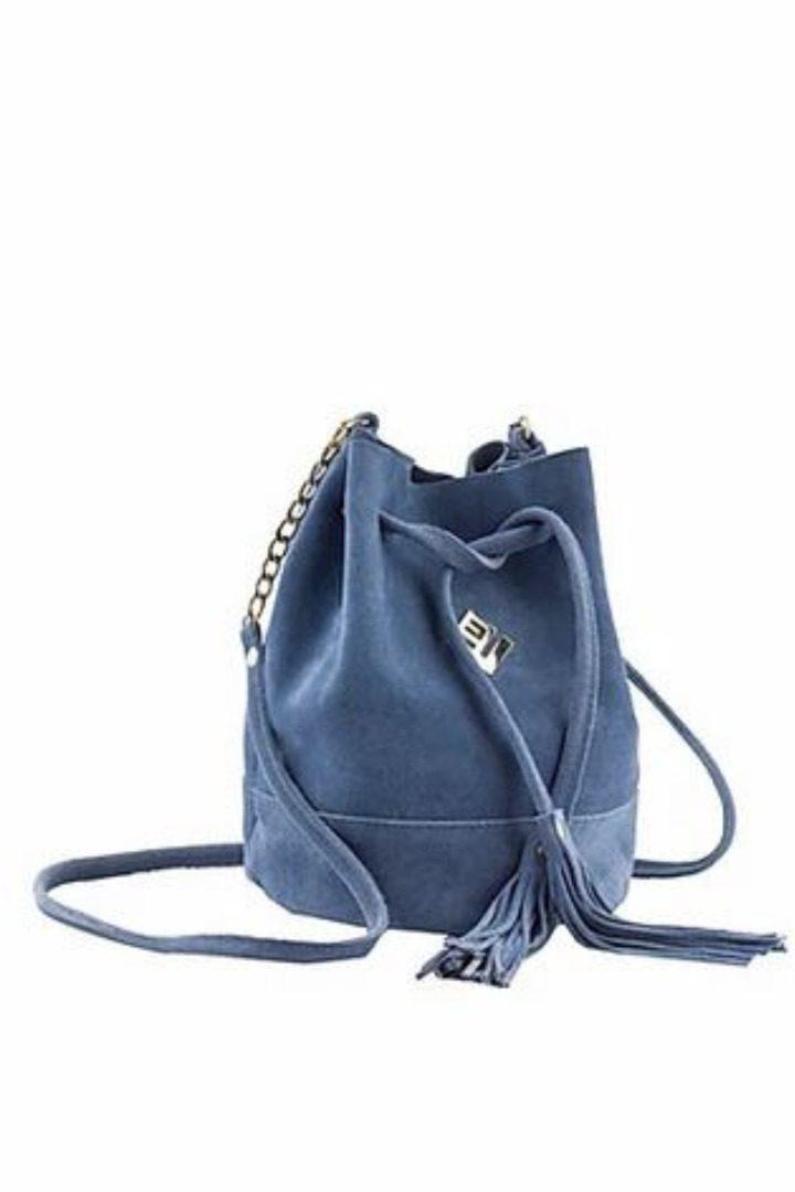 lovely handmade τσάντα ώμου light bluu