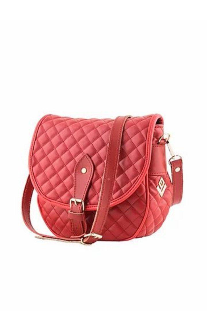 lovely handmade γυναικεία τσάντα ώμου κόκκινη