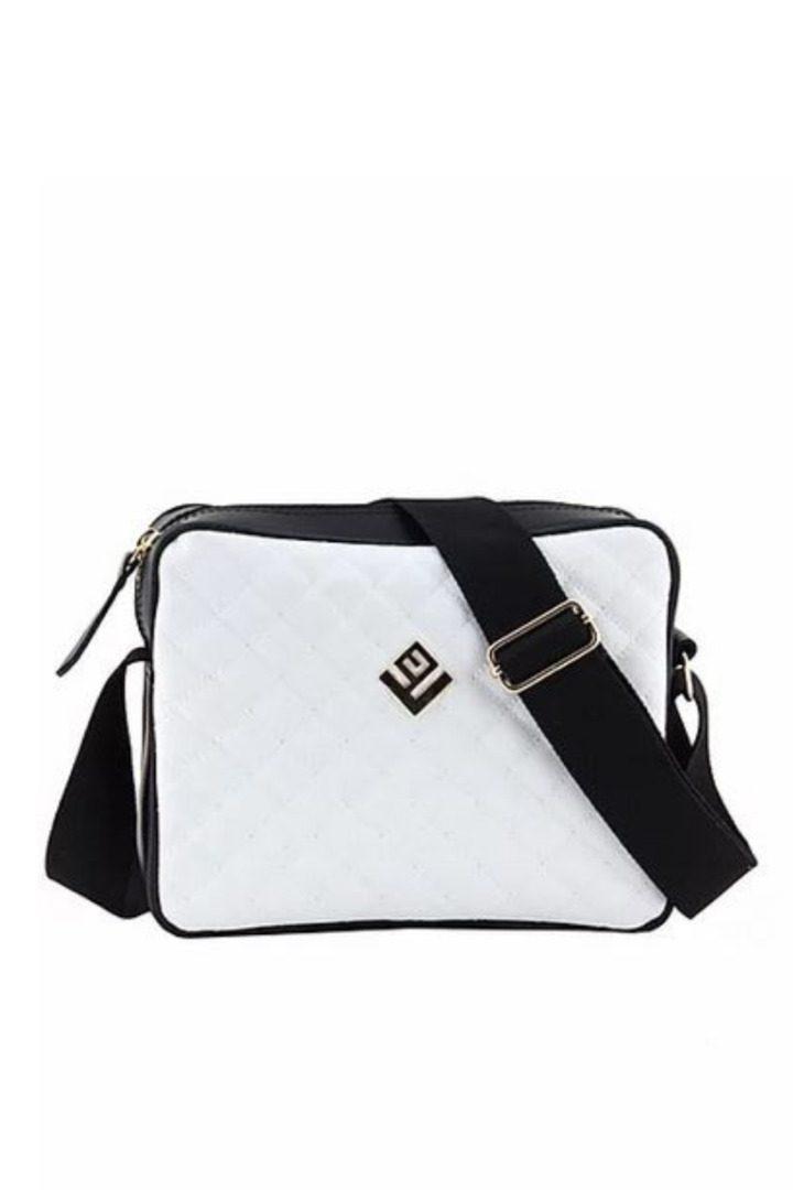 lovely handmade γυναικεία τσάντα ώμου λευκή