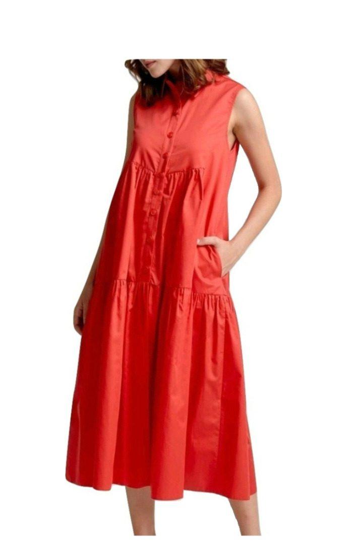 Moutaki μίντι φόρεμα σε άνετη γραμμή