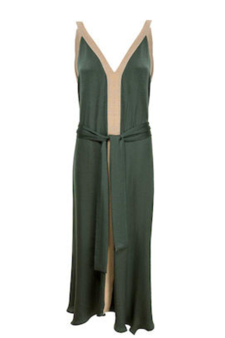 Moutaki maxi φόρεμα με λούρεξ ρίγες
