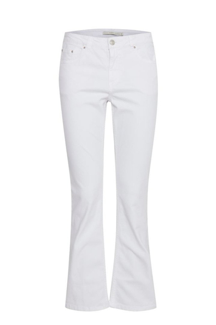 b.young λευκό τζήν παντελόνι καμπάνα