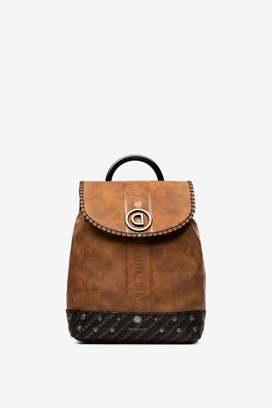 Desigual τσάντα πλάτης καφέ χρώμα