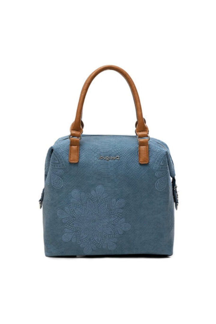Desigual γυναικεία τσάντα χειρός χρώμα indigo