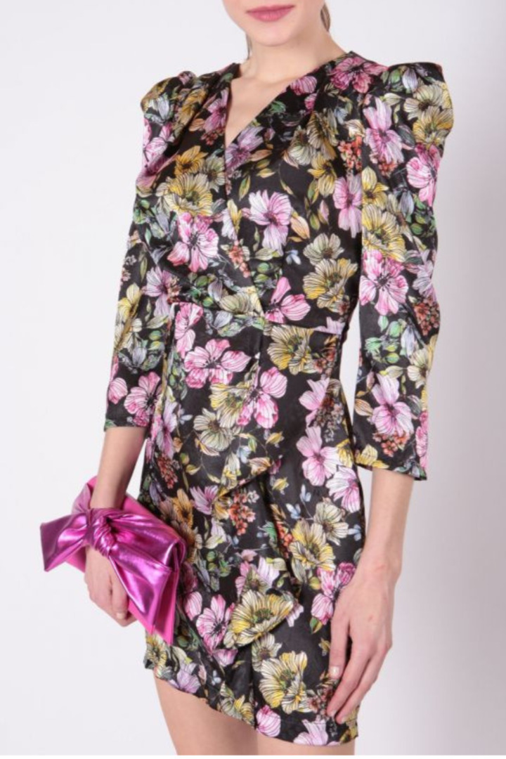 Rinascimento μίνι φλοράλ φόρεμα