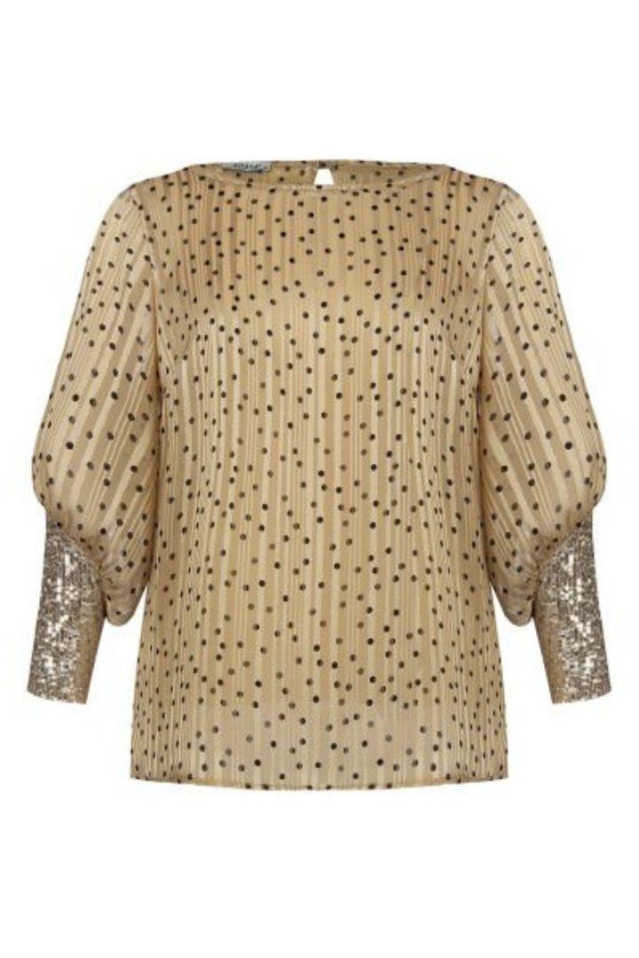 Rinascimento πουά πουκάμισο με λεπτομέρεια παγιέτες