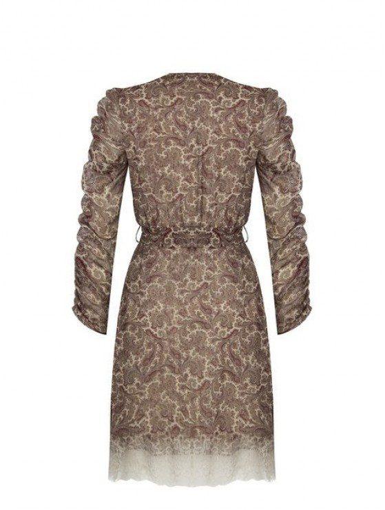 Rinascimento coctail φόρεμα με σουρωτά μανίκια