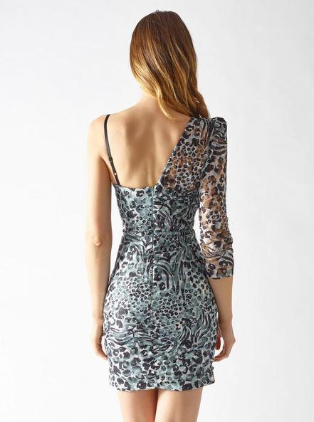Rinascimento μίνι βραδινό φόρεμα με έναν ώμο