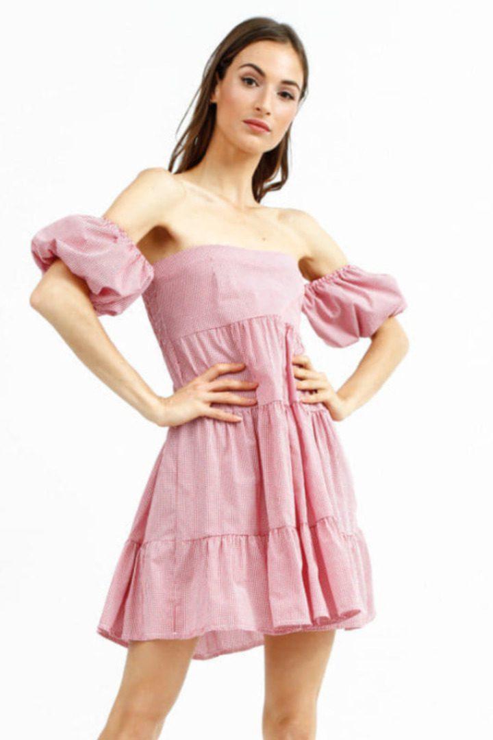 Susy Mix μίνι φόρεμα με έξω ώμους