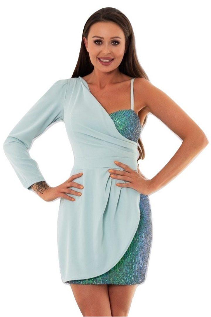 Rinascimento μίνι φόρεμα με έναν ώμο