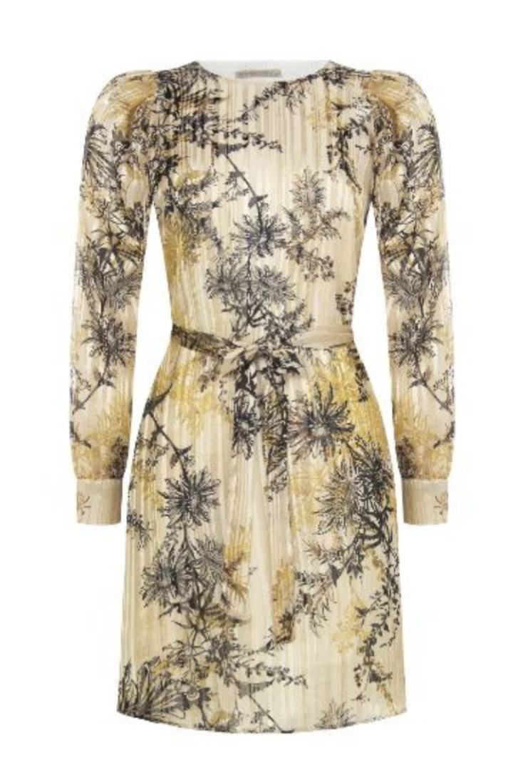 Rinascimento φλοράλ φόρεμα μακρυμάνικο