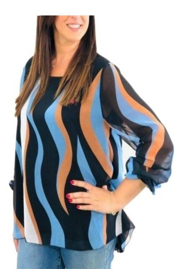 Rinascimento πολύχρωμο πουκάμισο με μακρύ μανίκι