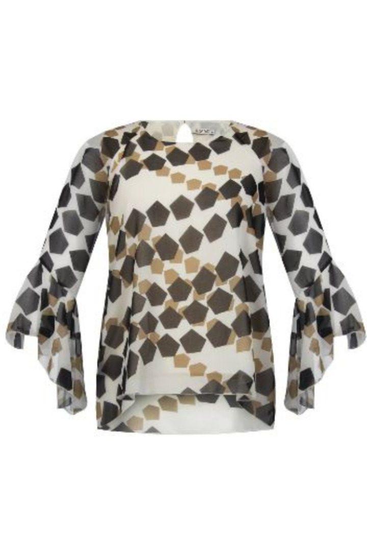 Rinascimento μακρυμάνικη μπλούζα με ασυμμετρίες