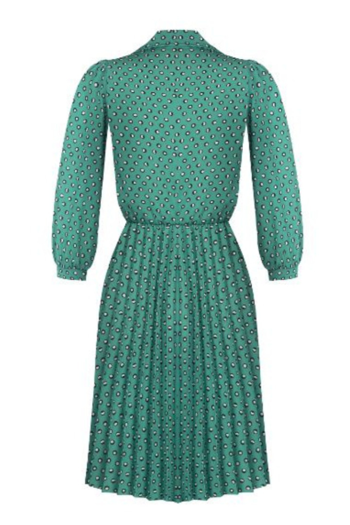 Rinascimento πουά φόρεμα μακρυμάνικο