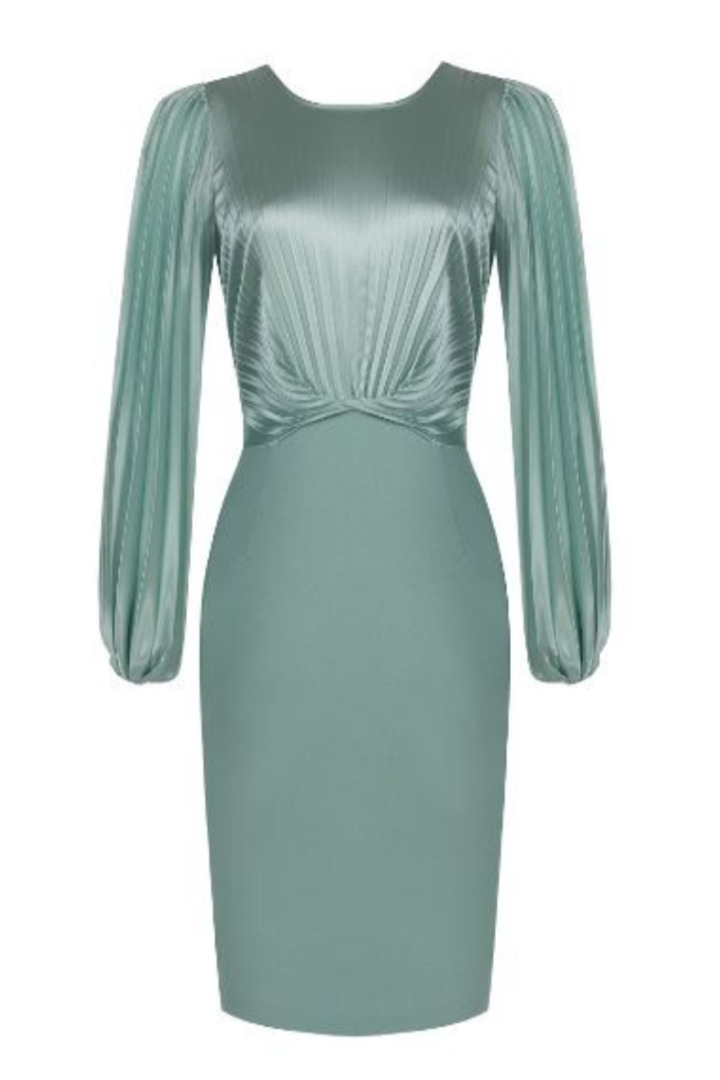 Rinascimento βραδινό φόρεμα στο χρώμα της μέντας