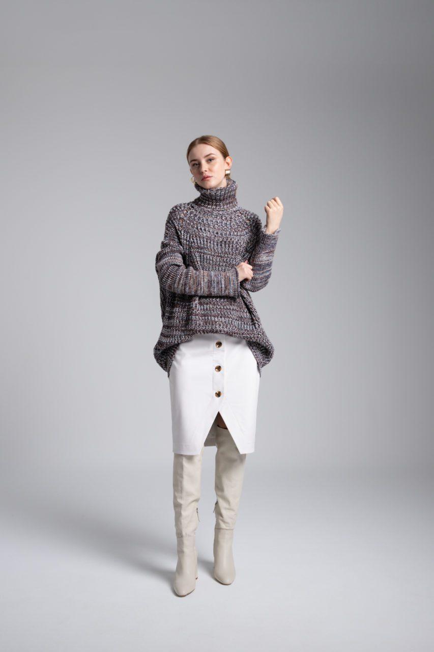 Moutaki eco-leather φούστα
