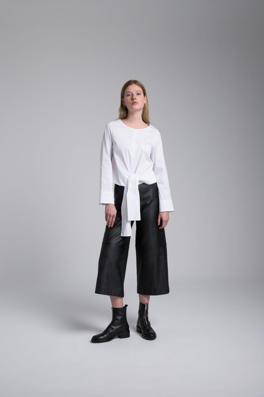 Moutaki eco leather ζιπ κιλότ