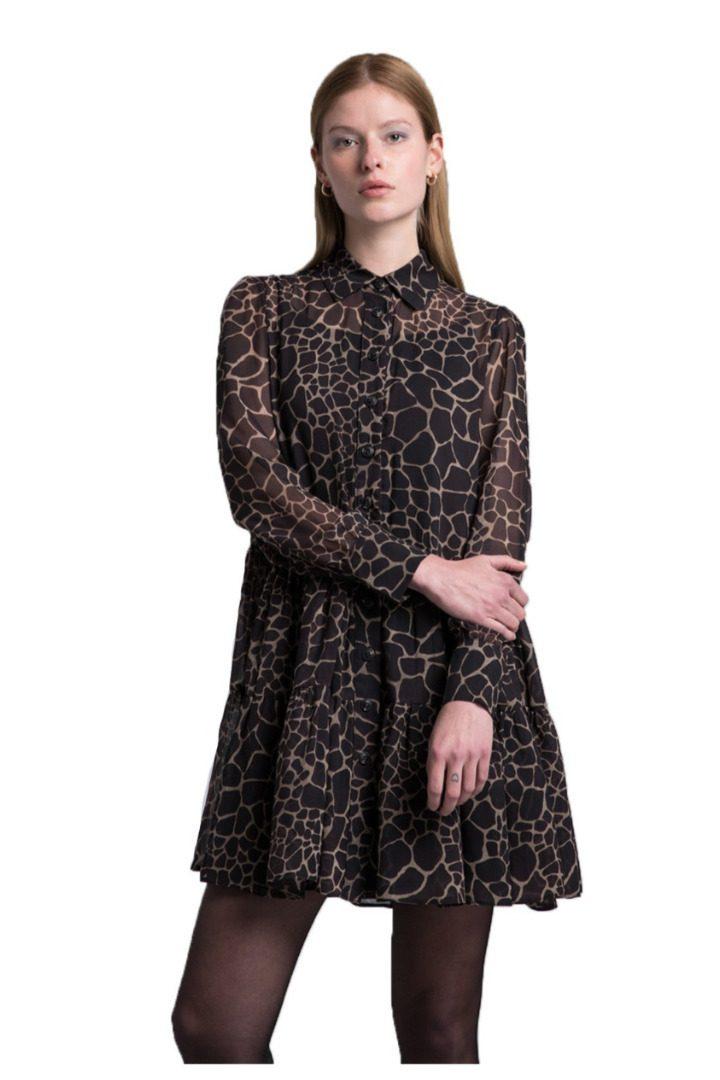 Moutaki animal print, mini dress