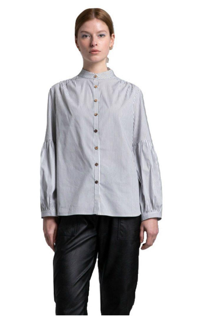 Moutaki ριγέ βαμβακερό πουκάμισο