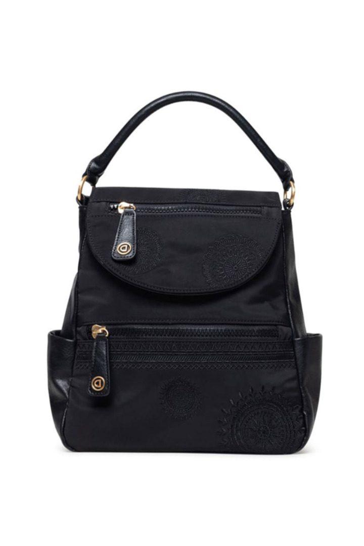 Desigual backpack τσάντα ,μαύρο χρώμα