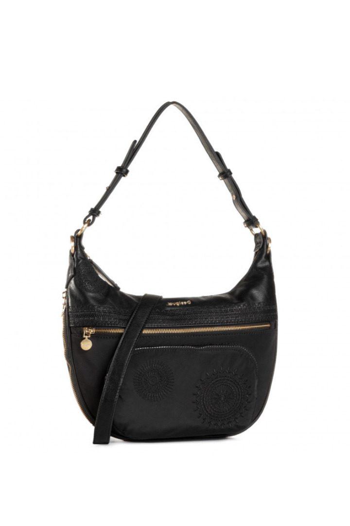 Desigual μαύρη τσάντα χειρός