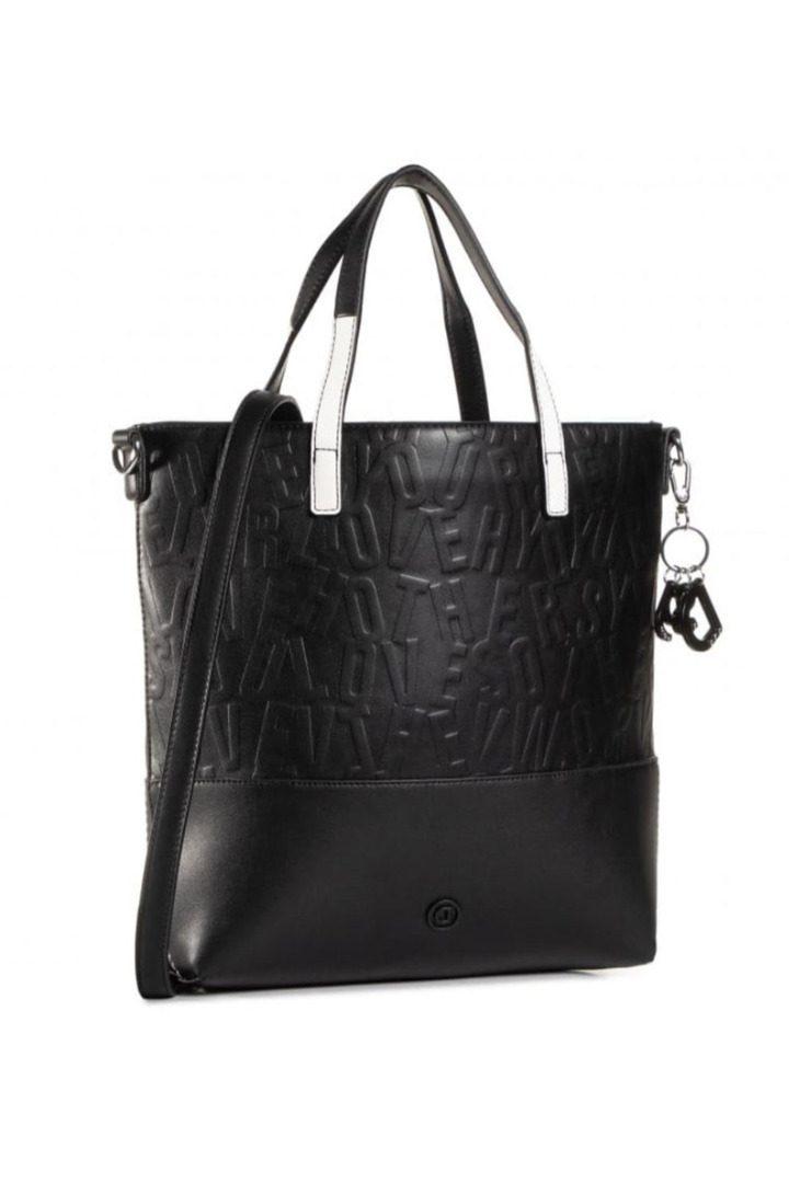 Desigual τσάντα χειρός-ώμου , μαύρο χρώμα