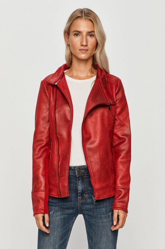 Desigual eco-leather μπουφάν κόκκινο