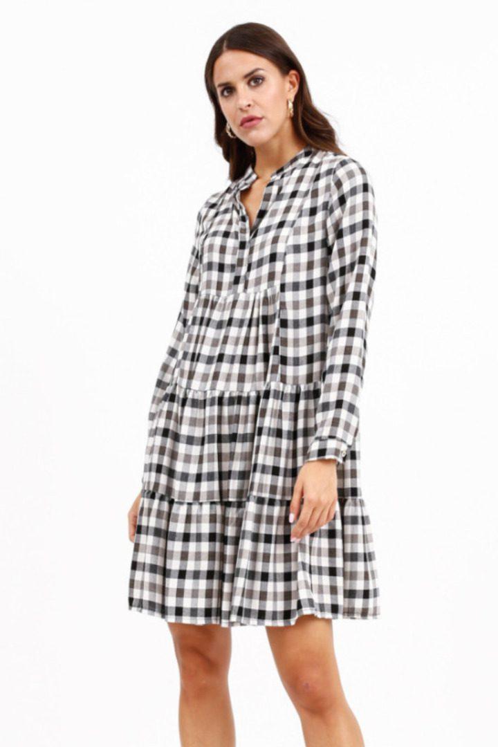 Susy mix καρό φόρεμα ,μίνιι