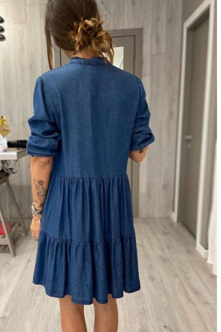 Susy mix τζήν μίνι φόρεμα