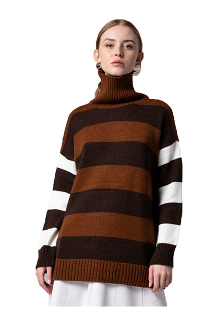 Moutaki ζιβάγκο πλεκτό πουλόβερ με ρίγες