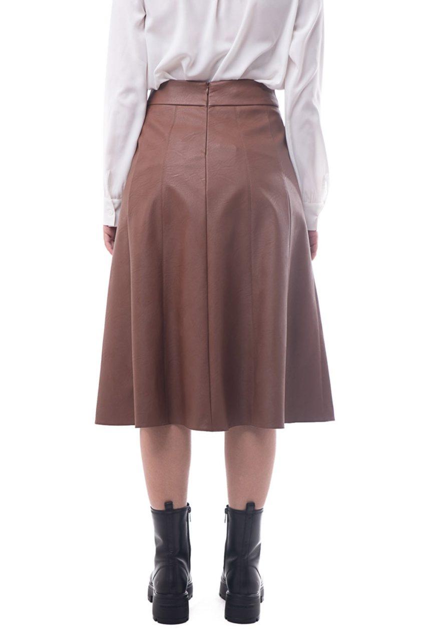 Moutaki δερματίνη φούστα