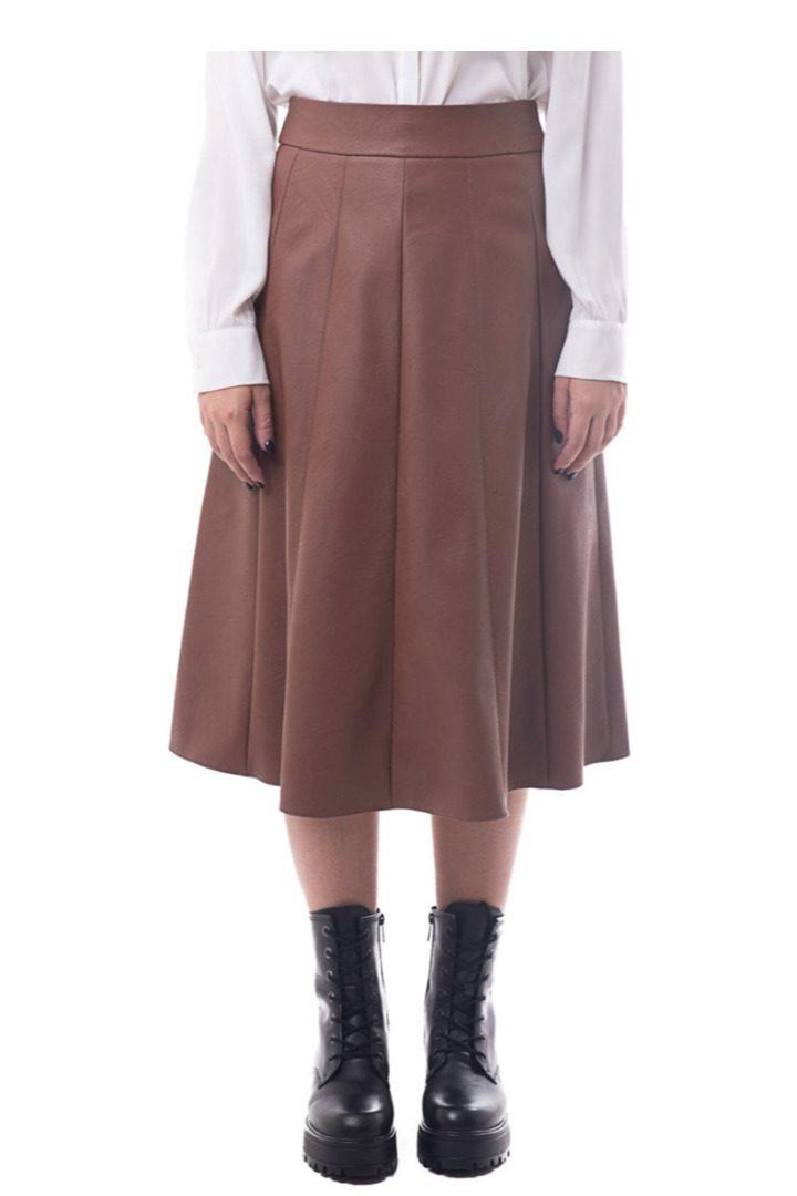 Moutaki eco leather φούστα