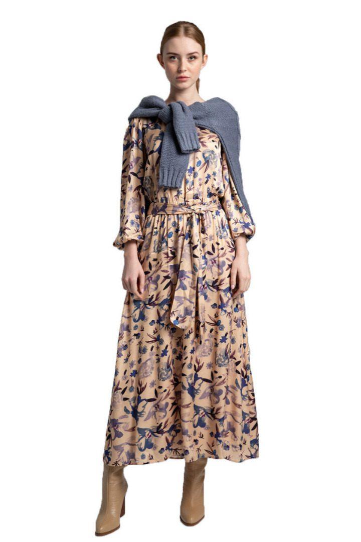 Moutaki μίντι φλοράλ φόρεμα